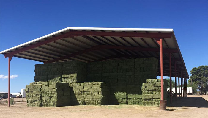 barn of hay at Sierra Farming